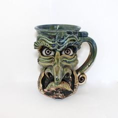Angry Face Mug – Fusion Art Glass Online Store