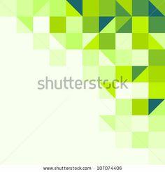 Green geometric background - stock vector