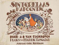 Sinterklaas kapoentje prentenboek uit 1928 van A.B. van Tienhoven met platen van Freddie Langeler