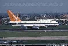 South African Airways Boeing 747SP-44 at London Heathrow airport 1980