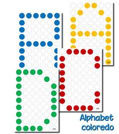 Voici des fiches Alphabet compatibles avec les grilles de Coloredo.   Ce n'était pas évident, car les planches d'origine sont légèrement pl...