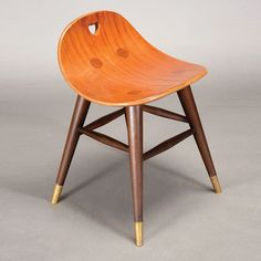 Edward Wormley For Dunbar Stool With Rare Heart Cut Out #michaans #midcenturymodern http://www.michaans.com/highlights/2014/highlights_11062014-b.php