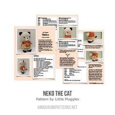 Neko Cat amigurumi pattern by Little Muggles