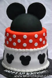 Simple, cute Mickey Mouse cake