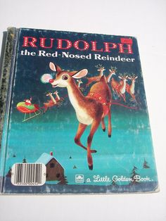 Vintage 1970's Children's Book Rudolph the Red by The3Maries