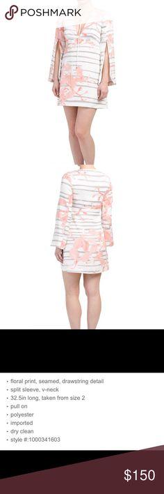 f1e57d5da2 HALSTON HERITAGE LOTUS ORCHID STRIPE DRESS GORGEOUS!! 😍😍😍 Printed dress  with