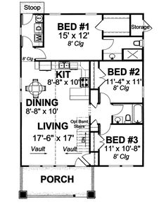 Flexible Three Bedroom Cottage - 40512DB | Cottage, Country, Narrow Lot, 1st Floor Master Suite, CAD Available, PDF | Architectural Designs