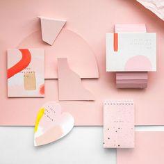Pink inspiration from moglea painted cards. Collateral Design, Stationary Design, Graphic Design Branding, Identity Design, Brand Identity, Graphisches Design, Print Design, Logo Design, Packaging Design Inspiration