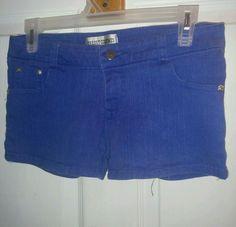 Spring Beach Hippie Low Rise Stretch Denim Mini Short Shorts Blue S #NEW #MiniShortShorts
