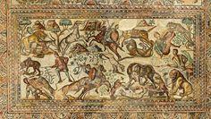 Mosaico-romano-de-la villa romana la olmeda. s.IV dc.