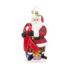 "Christopher Radko Ornament - ""Caring Claus"""