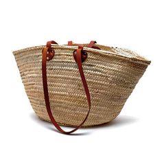 French Market Basket- short + long handle | white nest market