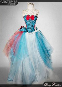 ALICE IN WONDERLAND wedding dress bridal corset by DecayCouture