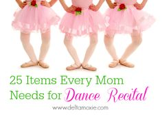 dance recital items, what to use at a dance recital, recital hair,