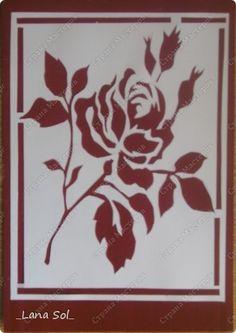 Картина, панно Вырезание, Вырезание силуэтное, Вытынанка: Розы Бумага, Клей, Тушь, Фанера. Фото 3