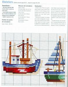 gallery.ru  cross stitch boats