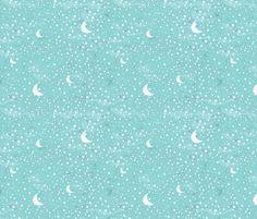 Under The Stars - Small fabric by joyfulroots on Spoonflower - custom fabric