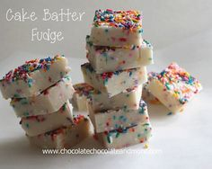 TweetCake Batter Fudge-so easy to make and so good to eat! I have to apologize right up front to whoever I got this recipe from. I don't remember who you are. I'm so sorry. Here's what happened. My sweet stepdaughter loves finding things and then shares them to me on Facebook. Especially things she wants …