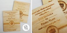 Traditional african wooden invite | Oh Yay