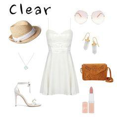 """Clarity"" by chimizmorales on Polyvore featuring moda, Alexandre Birman, Chloé, Nu-G, Wolf & Moon, BillyTheTree, Gap, Rimmel, clear y Seethru"