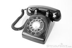 Photo about Old phone black communication wire. Image of dial, talk, wire - 4911840