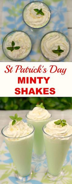 Smooth, Minty Shakes - with or without booze ! For St Patrick's Day