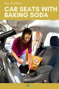 WIth this DIY carpet cleaning hack, you'll be able to clean your car seats with baking soda. This all natural remedy will have stains, dirt, and dust up out of your auto seats in not time #homeviable #carcleaning #bakingsoda #allnatural #DIY Car Seat Upholstery, Cleaning Car Upholstery, Car Cleaning, Cleaning Hacks, Green Cleaning, Clean Cloth Car Seats, Cleaning Leather Car Seats, Vinegar Cleaning Solution, All Natural Cleaning Products