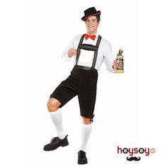 #Disfraz de #alemán #Hánsel ideal para celebrar la fiesta de la #cerveza o fiestas ambientadas en las tradiciones alemanas y #tirolesas.  Este disfraz está compuesto de un pantalón con tirantes de color verde oscuro y un sombrero tirolés. #Disfraces #Carnaval