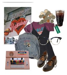"""barely getting by"" by paigealexandrialee on Polyvore featuring Brandy Melville and Dr. Martens"