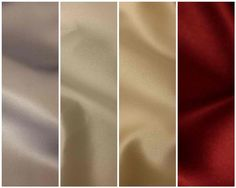 wedding color palette: silver, cream, champagne, burgundy/red