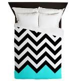 Black and turquoise chevron duvet Duvet Cover. Perfect for a #teen room.