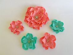 11 Sugar Flowers for Cakes Edible Fondant Flowers by LenasCakes