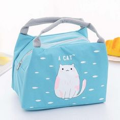 Waterproof Portable Cute Cartoon Lunch Bag Material: OxfordSize: 21*15*17cm Kids Lunch Bags, Kids Bags, Nespresso, China, Cartoon Bag, Ladies Lunch, Cool Lunch Boxes, Portable Food, Insulated Lunch Box