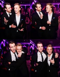 tom felton and mathew lewis<<< two of the hottest guys not only in the HP movies, but ever in existence. <<< why are the good ones always British?!