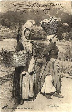 Carte postale ancienne Corse - Types Corses