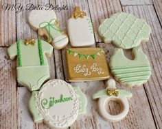 Mint and gold baby shower cookies cookie connection cookie stuff in 2019 пр Mint Baby Shower, Tribal Baby Shower, Gold Baby Showers, Elephant Baby Showers, Baby Boy Cookies, Baby Shower Cookies, Baby Shower Table Decorations, Baby Shower Desserts, Baby Shower Garcon