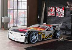 Rennbolide als Kinderbett // #Kinderbett #Rennwagen #Racecar #emob4kids #DADDYlicious