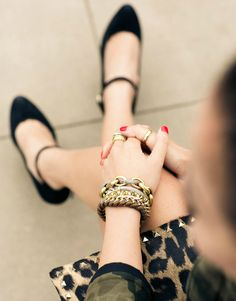 "what-do-i-wear: "" Bag :: Valentino (similar here)  Accessories :: rings – Gorjana & Banana Republic, bracelets – J.Crew, David Yurman, Wanderlust+Co and Mel (image: wendyslookbook) "" #Shoes #Jewelryland.com"