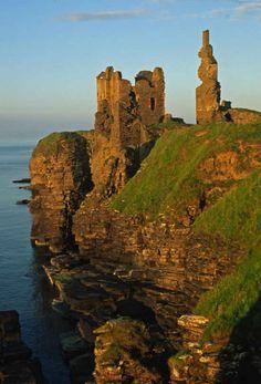 Castle Girnigoe built by the Clan Sinclair ...Scotland, U.K.