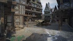Fantasy Town, 3d Fantasy, Fantasy Castle, Medieval Games, Medieval Town, Photos For Sale, Stock Photos, Harbor Town, Minecraft City