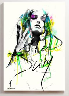 Print on canvas signed Sandrine PAGNOUX FOR SALE in http://www.youartme.com/product_category/8/canvas?artist_sel=466