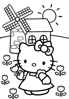 coloring pages for kids animals cute characters | Hello Kitty Coloring Pages | Coloring Pages To Print