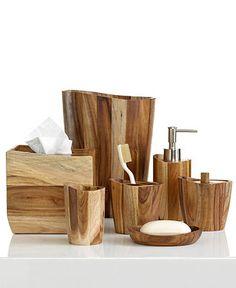 Kassatex Bath Accessories, Acacia Collection - Bathroom Accessories - Bed & Bath - Macys