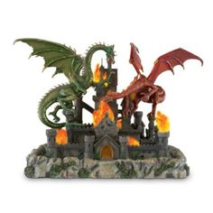 Dragons Siege Collectible Red And Green Dragon Figurine