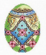 Large Imari Bird Design Handpainted Needlepoint Canvas by Creative Needle ~ 18M