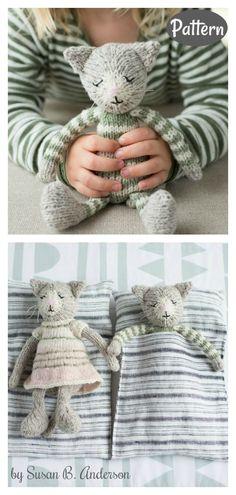 Sleepy Kitten Set Amigurumi Knitting Pattern
