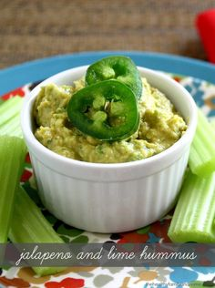Clean Eating Jalapeno and Lime Hummus...made with clean ingredients and it's vegan, gluten-free, dairy-free and ready in minutes | The Healthy Family and Home