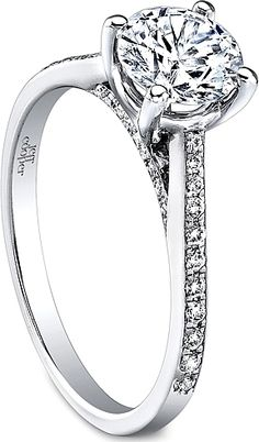 Check out our predictions for your wedding style based on your engagement ring. Jeff Cooper, Pave Ring, Here Comes The Bride, Dream Wedding, Wedding Stuff, Wedding Styles, Bling, Engagement Rings, Diamond