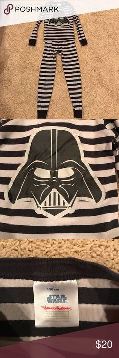 Star Wars Hanna Andersson boys pj set Super fun star wars boys pj set: gray/black stripes: size 8 or 130 cm hanna andersson  Pajamas Pajama Sets