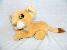 Original VTG 1993 Disney Mattel The Lion King 10  Plush laying Purring Nala Cub